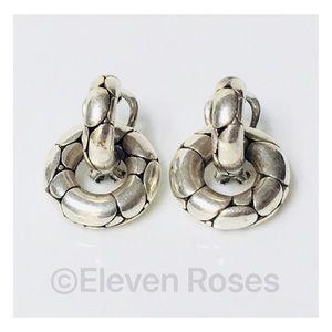 John Hardy Huggie Hoop Dangle Earrings